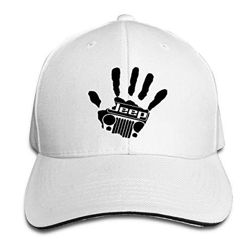 (Jeep Sandwich Hats Dad Baseball Cap Adjustable Unisex White)