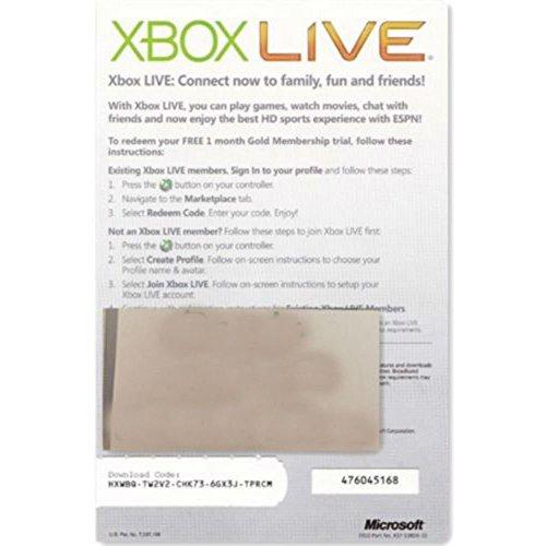 xbox live gold membership 1 month - 6