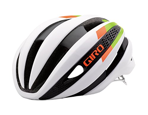 Giro Synthe Helmet Matte White/Lime/Flame, L