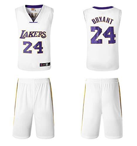 Tenue Kobe Nba De Pour 24 Basketball T Lakers N ° Bryant white Homme fHfY84