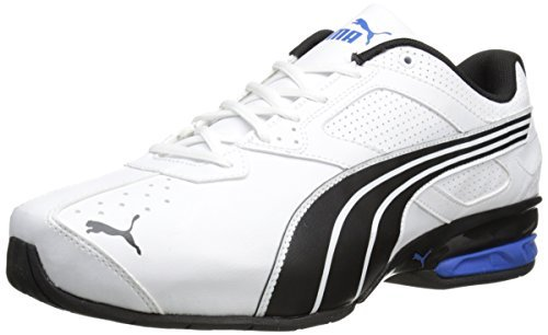 PUMA Men's Tazon 5 Wide Training Shoe White/Black/Strong Blue 7 W US [並行輸入品] B072Z7TYFW