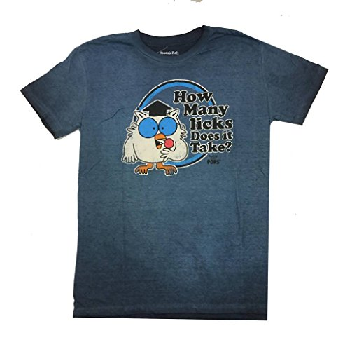 Candy Mom Wrappers (Tootsie Roll Pops Mr Owl Adult Short Sleeve T-Shirt-Navy-Small)