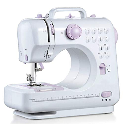 Simple Portable Sewing Machine with 12 Built-in Stitches, Automatic Needle Threader and Free Arm, Best Sewing Machine for Beginners