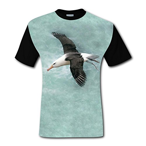 LZQ Tshirt Man 100% Cotton New Slim Fit Tee Clothing 3D Printed With Seagull For Men XXL