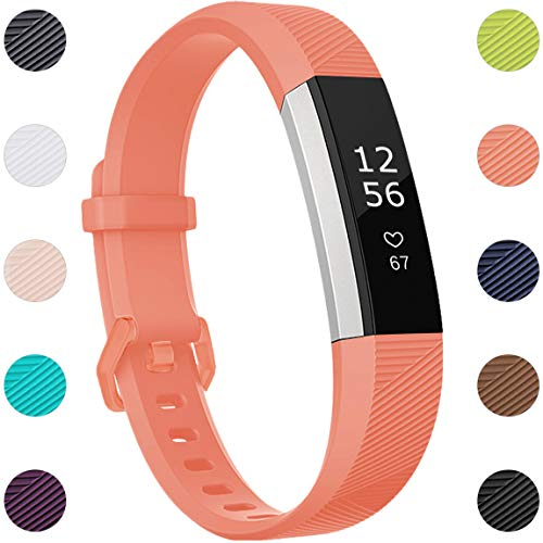Maledan Compatible with Fitbit Alta Bands, Replacement Band for Fitbit Alta HR/Alta/Ace, Small, Coral