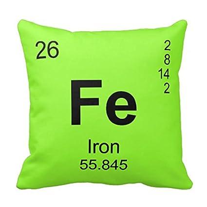 Tabla peridica de los elementos hierro funda de almohada amazon tabla peridica de los elementos hierro funda de almohada urtaz Choice Image