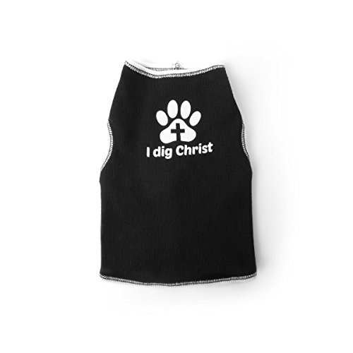 Pets 4 Christ I Dig Christ Dog T-Shirt (X-Large, Black)