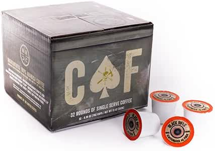Black Rifle Coffee Company CAF Caffeinated AF Single Serve Capsules, for Keurig K-Cup Brewers (32 Count)