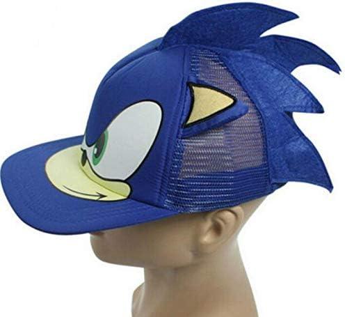 YUNDING Berretti da Baseball Nuovo 3D 1 Pz Blu Ragazzo Carino Sonic The Hedgehog Cartoon Youth Cappello da Baseball Regolabile Berretto Blu per Ragazzi Regali di Vendita Caldi
