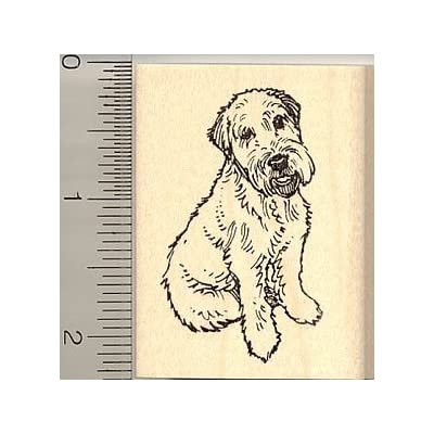 Wheaten Terrier Dog Rubber Stamp: Arts, Crafts & Sewing