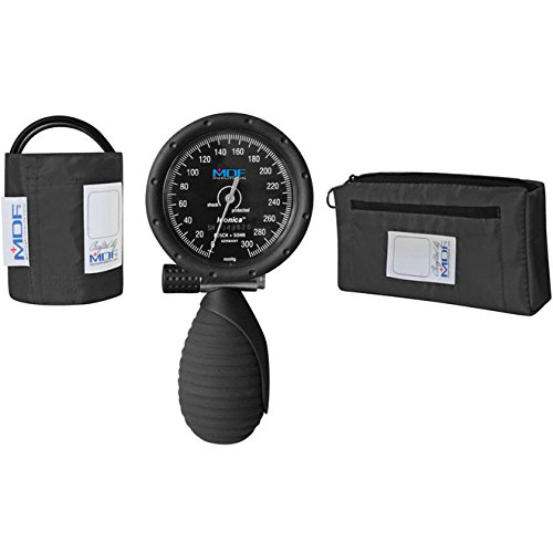 Palm Aneroid (MDF® Iconica® Palm Aneroid Sphygmomanometer - German Made Professional Blood Pressure Monitor with Adult Sized Cuff Included - Black (MDF848IC-11))