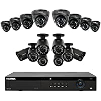 Lorex 4K 16 Channel 4MP 16 Camera Security System NR9163 3TB HDD 8 4MP LNB4321B Bullet Cameras 8 4MP LNE4322B Dome Cameras with Color Night Vision