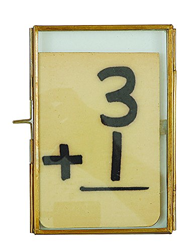 Brass Mirror Frame - Creative Co-op Brass and Glass Frame, 4 by 6-Inch