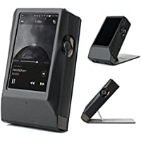 Astell&Kern AK380 AMP Hand Crafted MITER Leather Case Cover [Patented Stand Case] astell&kern leather case ak380 amp case (Black)