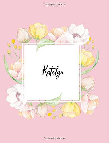 Katelyn 110 Ruled Pages 55 Sheets 8 5x11 Inches Water Color Pink Blossom Design For Note Journal Composition With Lettering Name Katelyn J B Boon 9781723548949 Amazon Com Books