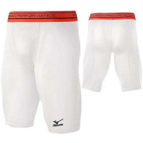 Mizuno Youth Elite Padded Sliding Shorts, White, Medium
