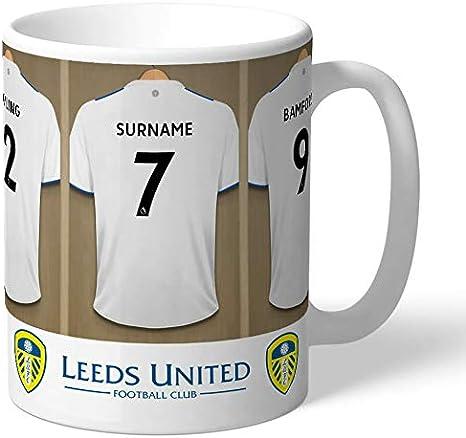 Personalised Leeds United FC Dressing Room Shirts Mug