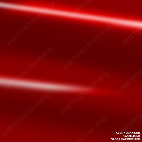 Avery SW900-436-O GLOSS CARMINE RED 5ft x 6ft (30 Sq/ft
