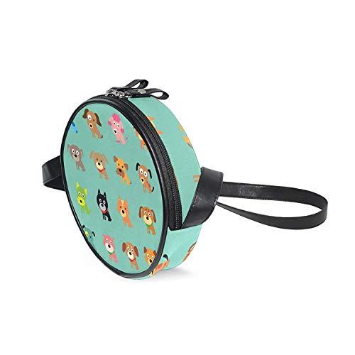 Ballet Embossed Wallet - Cartoon Dog Girls Crossbody bag Mini Schoolbag Kids Purse