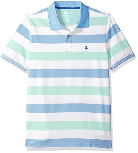 IZOD Men's Advantage Performance Stripe Polo, Auto Dusty Jade, Large