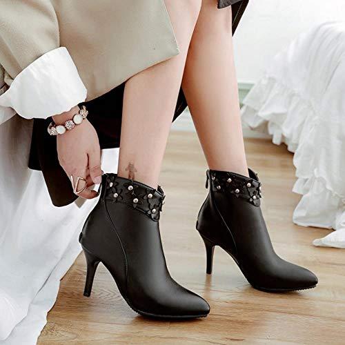 noires bottes femmes pour courtes Vulusvalas RnP8ax1n