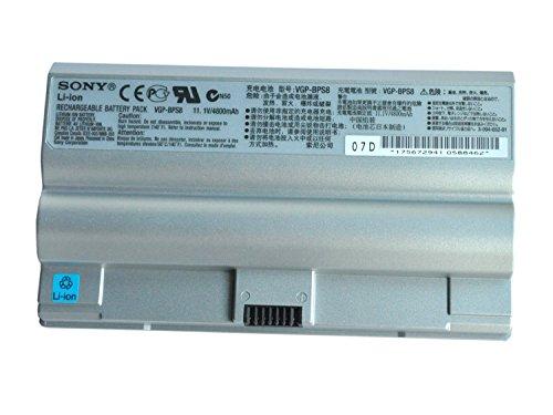 Laptop Battery Vgp-bps8, Vgp-bps8a 4800mah for Sony Pcg-394l, Vaio Vgc-lb15, Sony Vaio Vgc-lj, Vaio Vgn-fz Series Laptop (Sony Refurbished Laptops)
