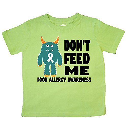 inktastic - Dont Feed Me with Monster Toddler T-Shirt 4T Key Lime -