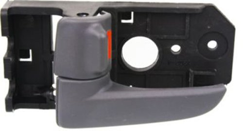 OE Replacement Front Driver Side Gray Interior Door Handle with Door Lock Button for Kia - REPK462344
