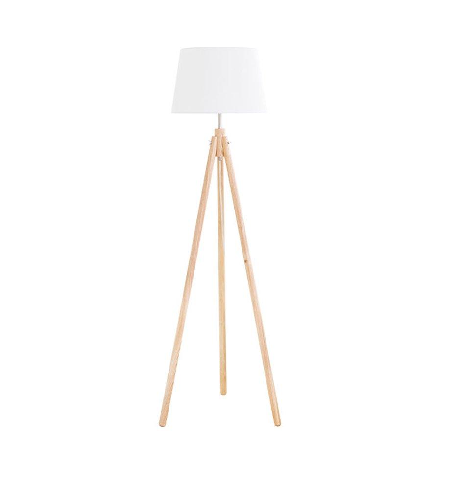 現代の簡単なフロアランプの研究ベッドルームのベッドサイドの北ヨーロッパソリッドウッド日本式インテリジェントリモコン垂直ledライトE27 * 1木の色 (色 : #2) B07DGL5CCZ 23481 #2 #2