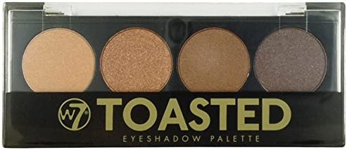 sombra de ojos tostado W7 - paleta de maquillaje con 4 sombras de ojos en los tonos atenuados de efecto ahumado, 1er Pack (1 x 50 g): Amazon.es: Belleza