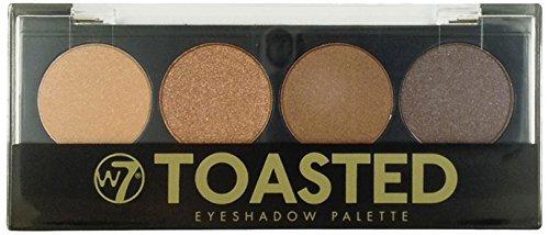 w7 Toasted Eyes Shadow Palette Maquillage de 4 Ombres à Paupières Dégradés Fauve pour un Effet Smoked 50 g W7-399698
