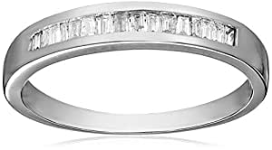 14k White Gold Baguette Channel Set Diamond Ring (1/5 cttw, I-J Color, I1-I2 Clarity), Size 6,white,