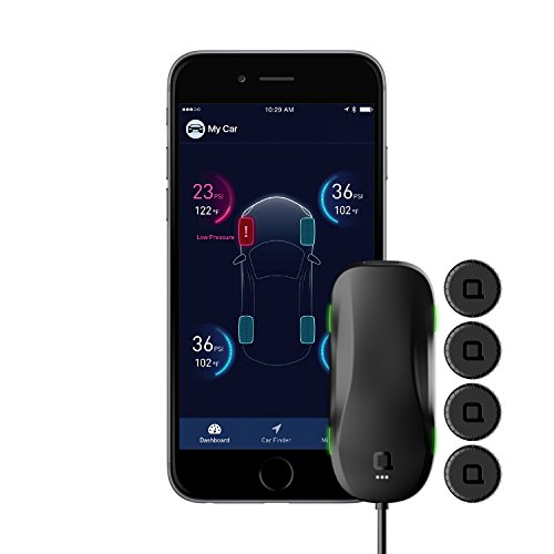Pressure Port No (nonda ZUS AccurateTemp Smart Tire Safety Monitor, TPMS with APP, Slow Leak Detection, Real Time Pressure & Temperature Alerts, Tire Pressure Monitoring System with 4 Upgraded External Cap Sensors)