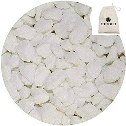 plant topping. White- Home STONED/® 1 Kilo Marble Chippings window dressing Garden crafts