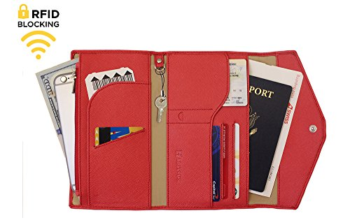 Genuine Leather RFID Blocking Passport Travel