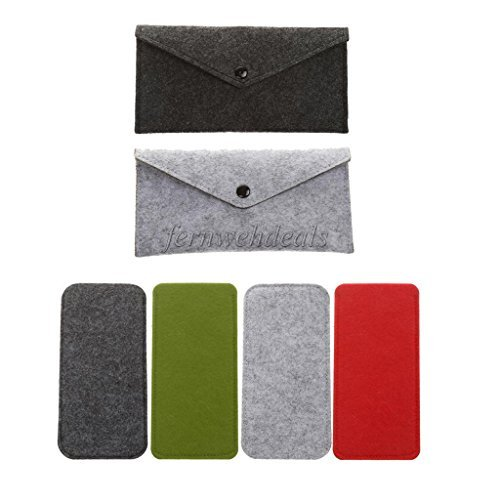 VIPASNAM-Portable Wool Felt Eyeglasses Sunglasses Button Case Box Holder Pen - Case Louis Sunglass Vuitton
