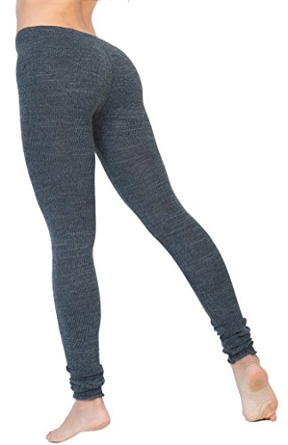 New York Black Small Sexy, Chic & Warm Stretch Knit Gym Tights by KD dance NYC Repertory Season Made In - Small Shops Nyc In
