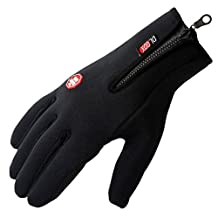 Panegy Winter Full Finger Leisure Warm Windproof Waterproof Touch Screen Cycling Ski Gloves For Mens Womens