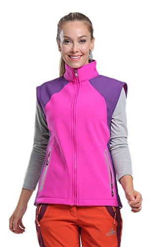 desmontable Rosa Sanke de completa de Chaleco de los la cremallera de Chaquetas de de moda polar la invierno las mujeres deportes RAZAwrq0tx
