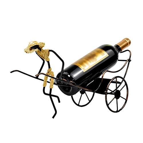 Nosterappou La decoración del hogar del estante del vino del hierro labrado del vintage, lleno de líneas artísticas, crea...