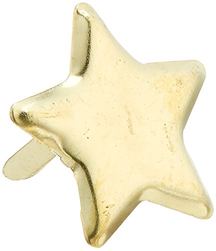 - CREATIVE IMPRESSIONS CI91002 Metal Paper Fasteners 50/Package, Gold Stars