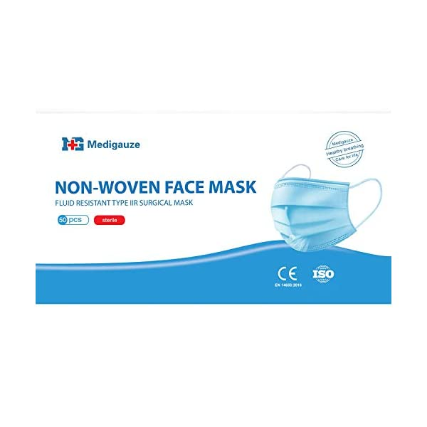Keplin 50pk 3ply Surgical Type Iir Face Masks Medical Fluid Protection98 Bfeen146832019verified And Testedsterile