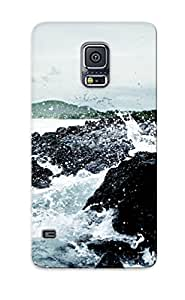 Ellent Galaxy S5 Case Tpu Cover Back Skin Protector Water Waves Rocks Shore Ripples Splashes Sea For Lovers' Gifts