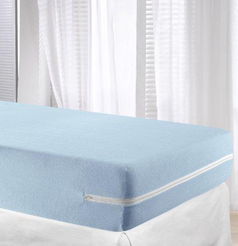 VELFONT - Frottee-Matratzenbezug aus 100% elastischer Baumwolle - Hellblaue - verfügbar in verschiedenen Größen - 90x190/200cm