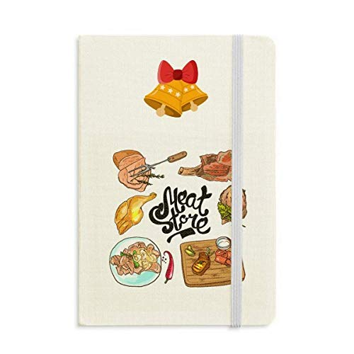 Meat Store - Cuaderno de tapa blanda para barbacoa, diseño de campana