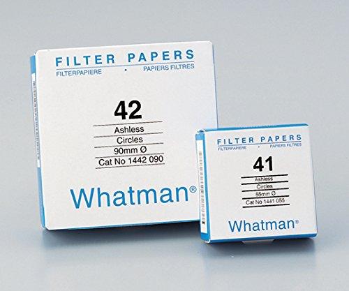 ワットマン2-324-08定量円形濾紙No.4124.0cm100枚入 B07BD2VD89