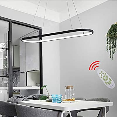 Lámpara de techo LED ovalada para comedor, oficina, diseño ...