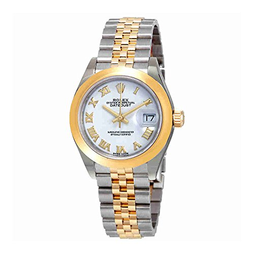 Rolex Lady-Datejust White Dial Automatic Ladies 18kt Yellow Gold and Steel Jubilee Watch 279163WRJ