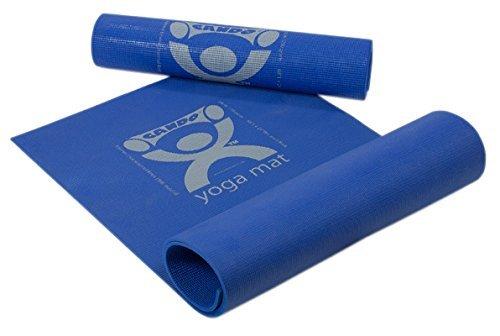 CanDo PER Yoga Mat, blue, 68'' x 24'' x 1/6'', eco-friendly, 10 each