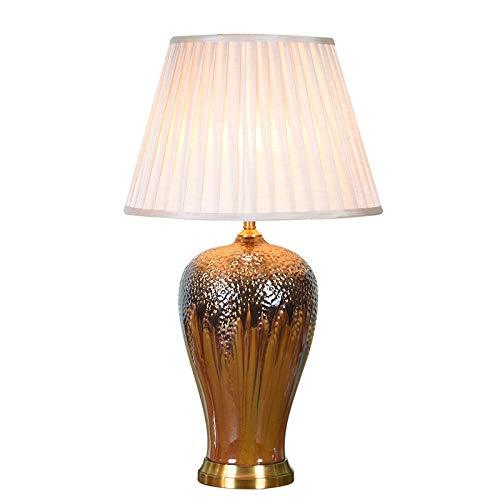 Cobre azul lámpara de mesa de cerámica sala de estar en casa ...